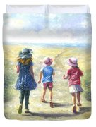 Three Sisters Beach Path Duvet Cover
