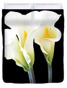 Three Tall Calla Lilies Duvet Cover