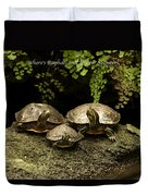 Three Turtles Duvet Cover
