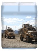 Three U.s. Army Mine Resistant Ambush Duvet Cover