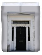 Three Whale Oil Row - Black Door - New London Duvet Cover