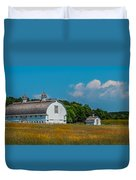 Three White Barns Duvet Cover