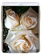 Three White Roses Duvet Cover