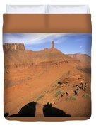 Three Women Mountain Biking In Moab Duvet Cover