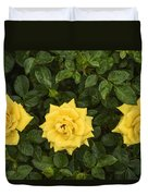Three Yellow Roses Duvet Cover