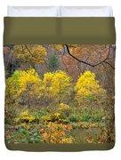 Three Yellow Trees Duvet Cover