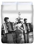 Three Young Accordion Players Duvet Cover