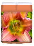 Throat Of Lily Duvet Cover