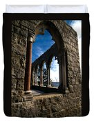 Through Castle Walls Duvet Cover