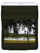 Through Live Oak Tree Duvet Cover
