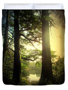 Through The Forest To The Lake Duvet Cover
