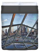Through The Glass At Philly Duvet Cover