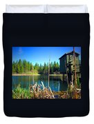 Through The Reeds At Grace Lake Duvet Cover