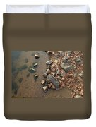Through The Rocks To The Lake Duvet Cover