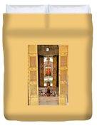 Through The Temple Doors India Duvet Cover