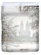 Through Winter Trees - Central Park - New York City Duvet Cover