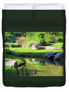 Thula Garden's Water Reflections Duvet Cover