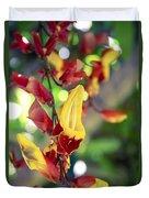Thunbergia Mysorensis - Trumpetvine Duvet Cover
