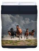 Thunder On The Plains Duvet Cover