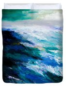 Thunder Tide Duvet Cover by Larry Martin