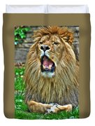 Thunder Vocals Of Lazy Boy At The Buffalo Zoo Duvet Cover