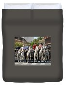 Thundering Hooves Duvet Cover by William Beuther
