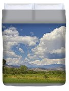Thunderstorm Clouds Boiling Over The Colorado Rocky Mountains Duvet Cover