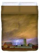 Thunderstorm Hunkering Down On The Farm Duvet Cover