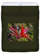 Red Ti Plant Duvet Cover