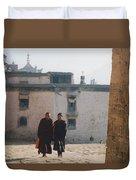 Tibet Monks 6 Duvet Cover