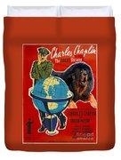 Tibetan Mastiff Art Canvas Print - The Great Dictator Movie Poster Duvet Cover