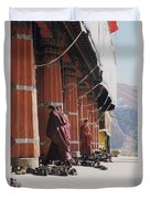 Tibetan Monks At Sera Duvet Cover