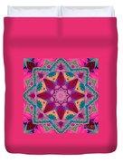 Tibetan Rose Duvet Cover