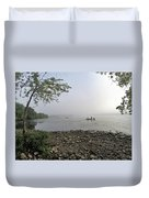 Ticonderoga Bass Fishermen Duvet Cover