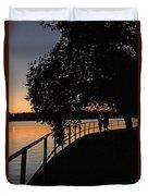 Tidal Basin Sunset0259 Duvet Cover