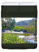 Tidal Creek In The Savannah Duvet Cover