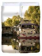 Tied Up Atchafalaya Swamp Louisiana Duvet Cover