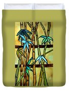 Stained Glass Tiffany Bamboo Panel Duvet Cover