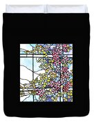 Stained Glass Tiffany Floral Skylight - Fenway Gate Duvet Cover
