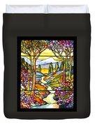 Tiffany Landscape Window Duvet Cover