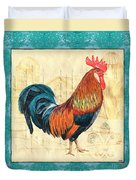 Tiffany Rooster 1 Duvet Cover by Debbie DeWitt