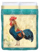 Tiffany Rooster 2 Duvet Cover