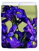 Tiffany Style Blue Iris Duvet Cover