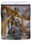 Tiger-5344-fractal Duvet Cover
