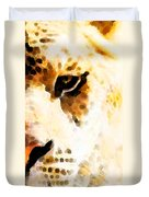 Tiger Art - Pride Duvet Cover by Sharon Cummings
