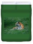 Tiger At Rest 1 Duvet Cover