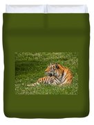 Tiger At Rest 3 Duvet Cover