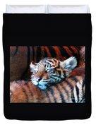 Tiger Cub Nap Duvet Cover