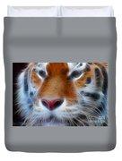 Tiger Face Fractal Duvet Cover
