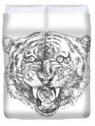 Tiger Head Duvet Cover